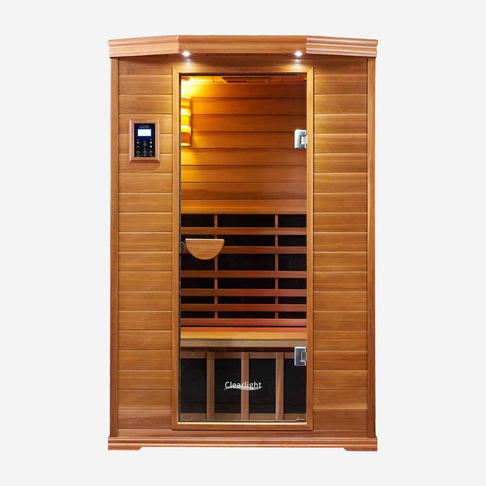 2-Person Clearlight Premier Full Spectrum Sauna Cedar 1