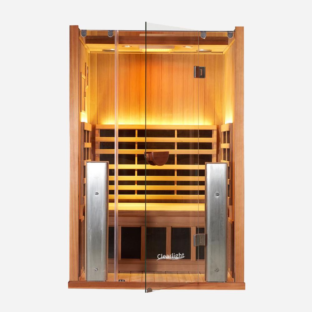 2-Person Clearlight Sanctuary Full Spectrum Sauna Cedar 1