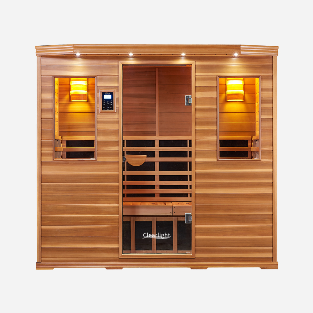 5-Person Clearlight Premier Full Spectrum Sauna Cedar 1